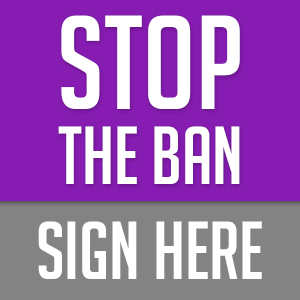 Stop The Ban Banner